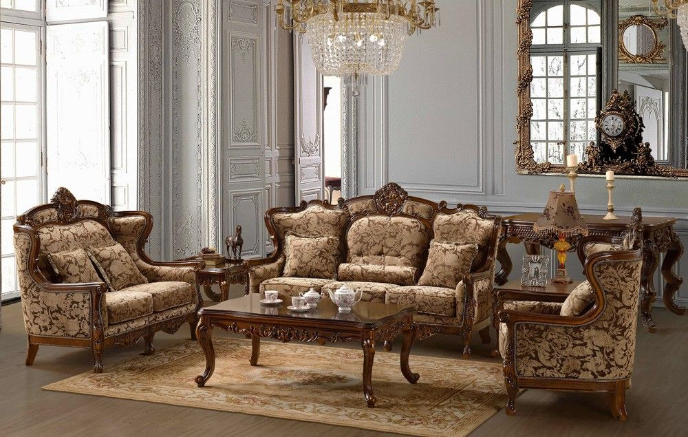 Brabion French Style Fabric Sofa Formal Living Room Furniture Traditional Living Room Furniture Formal Living Room Sets