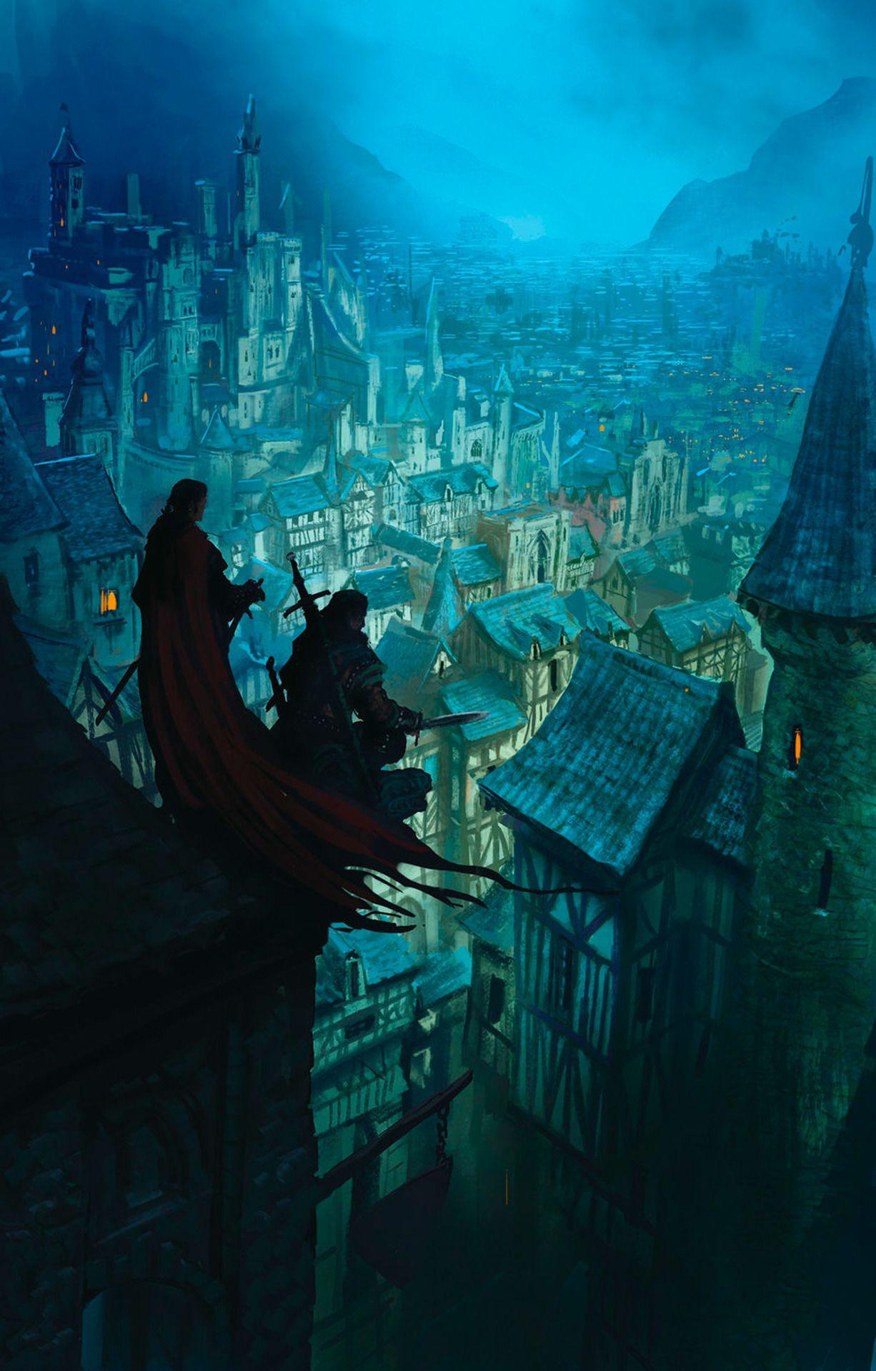 ILLUSTRATION..! Dans la cité fantôme .. des Guetteurs! Art par Marc Simonetti