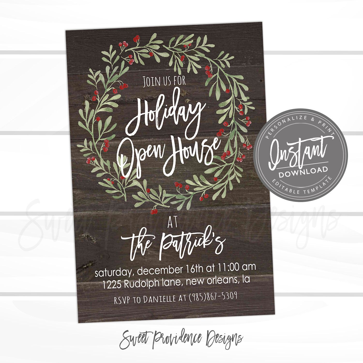 79a399027ec Pin by Sweet Providence Designs    Editable Invitations + Back To ...