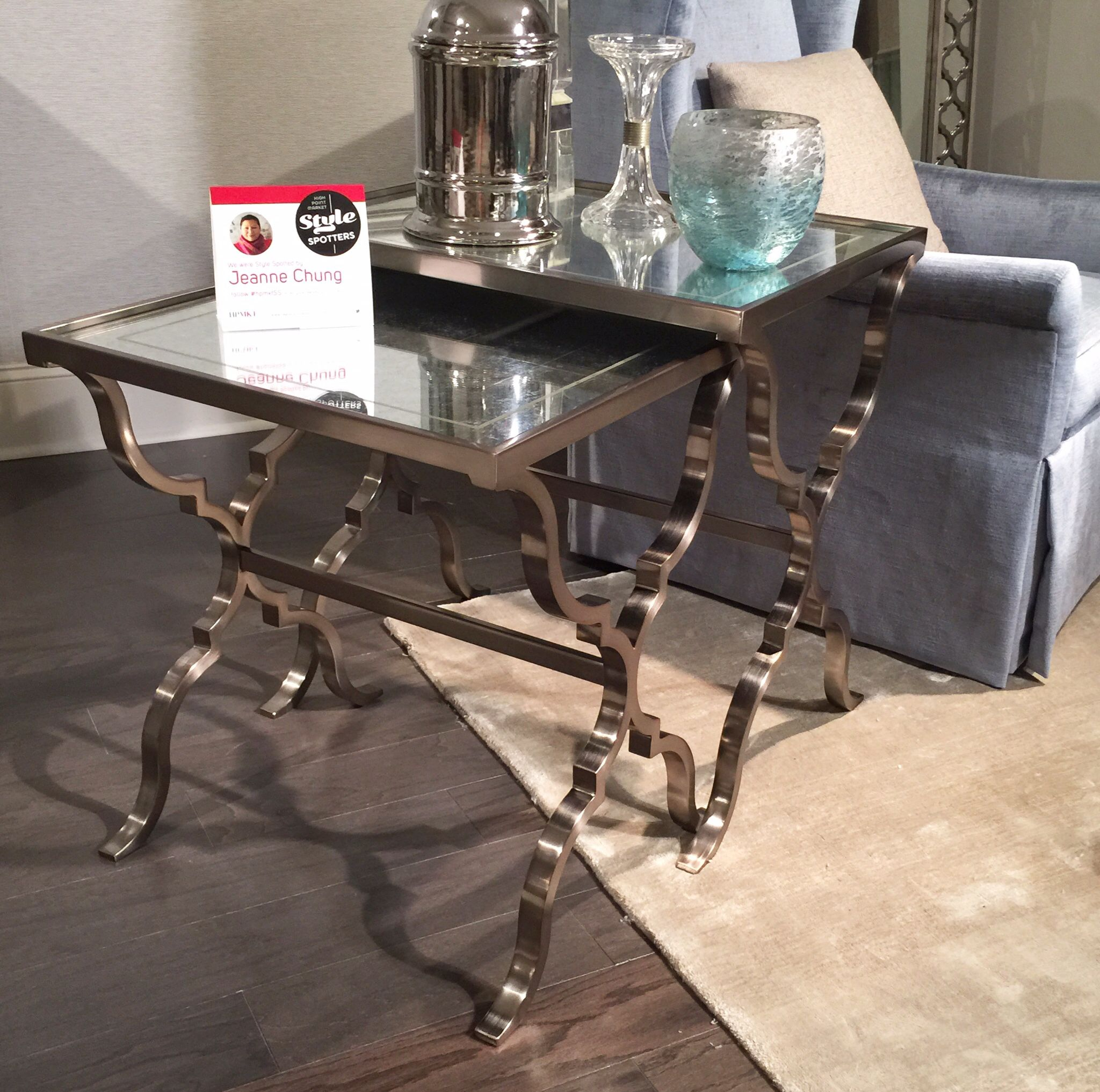 Silver Leaf Decoration The Marquesa Nesting Tables From Bernhardt A Delicate Eglomisc
