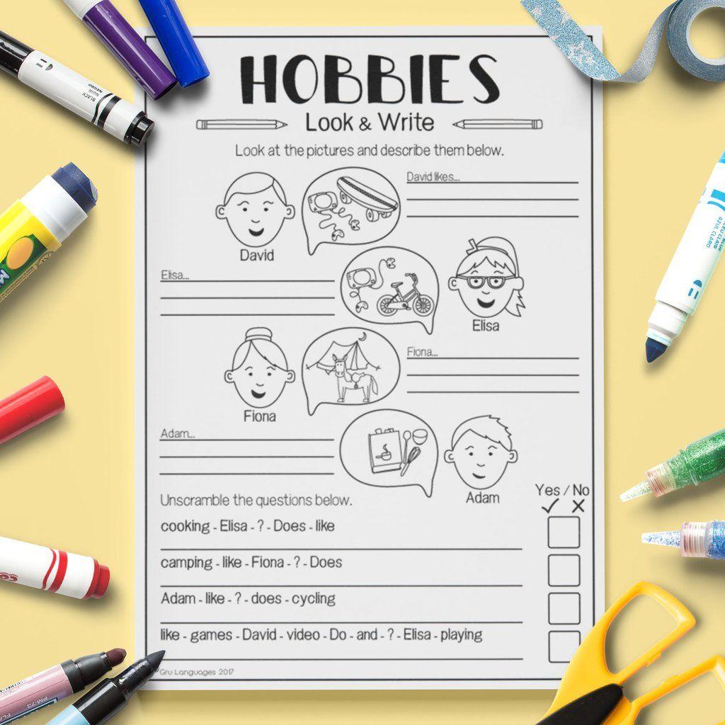 Hobbies Look Amp Write