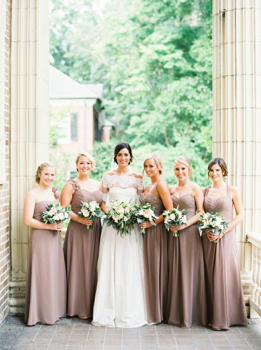 Jcrew wedding dress  Elegant  Neutral Wilmington Wedding  Floral designs Vaulting and