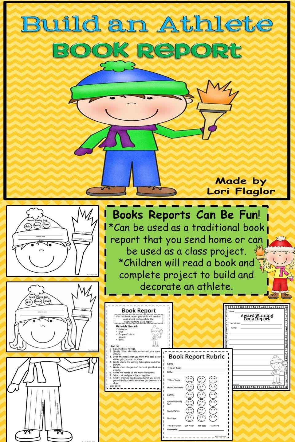 Book Report- Build an Athlete | Winter games, Language arts and Language