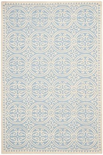 Safavieh Cambridge Cam 123 Rugs Rugs Direct Wool Area Rugs Ivory Rug Light Blue Rug