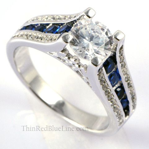 Ring 35 Thin Blue Line Women S Engagement