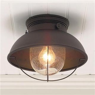 I Could Refinish The Front Room Light Fixture To Have This Oil Rubbed Bronze Look I Should Salt Mars Outdoor Ceiling Lights Cottage Lighting Ceiling Lights