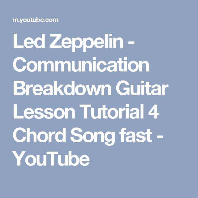Led Zeppelin Communication Breakdown Guitar Lesson Tutorial 4