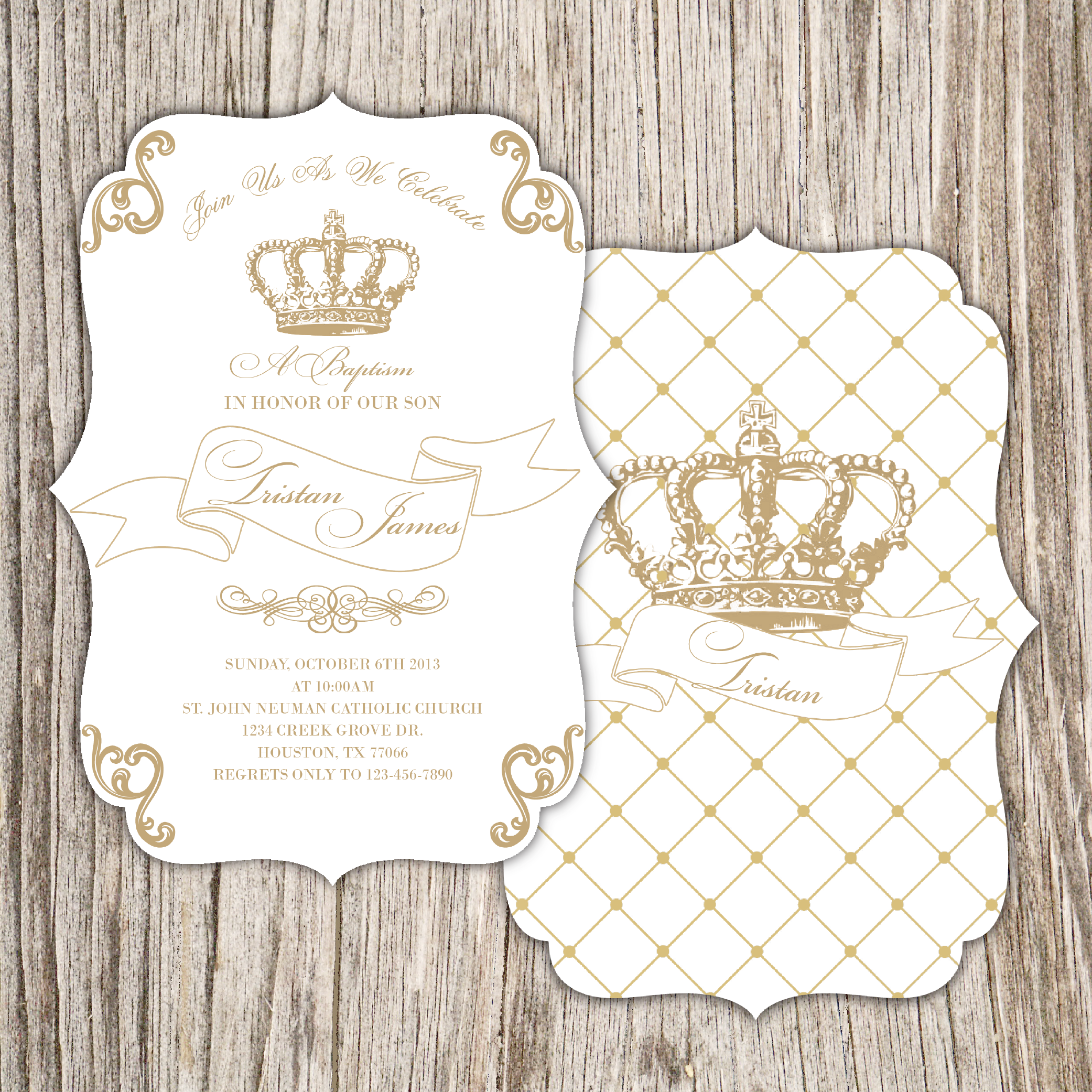 Royal Baby Shower Invitation, Crown Baby Shower Invitation | Baby ...
