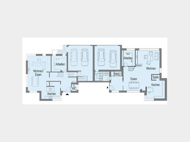 Grundriss eg bauhaus nilles doppelhaus von baufritz for Bauhaus einfamilienhaus grundriss