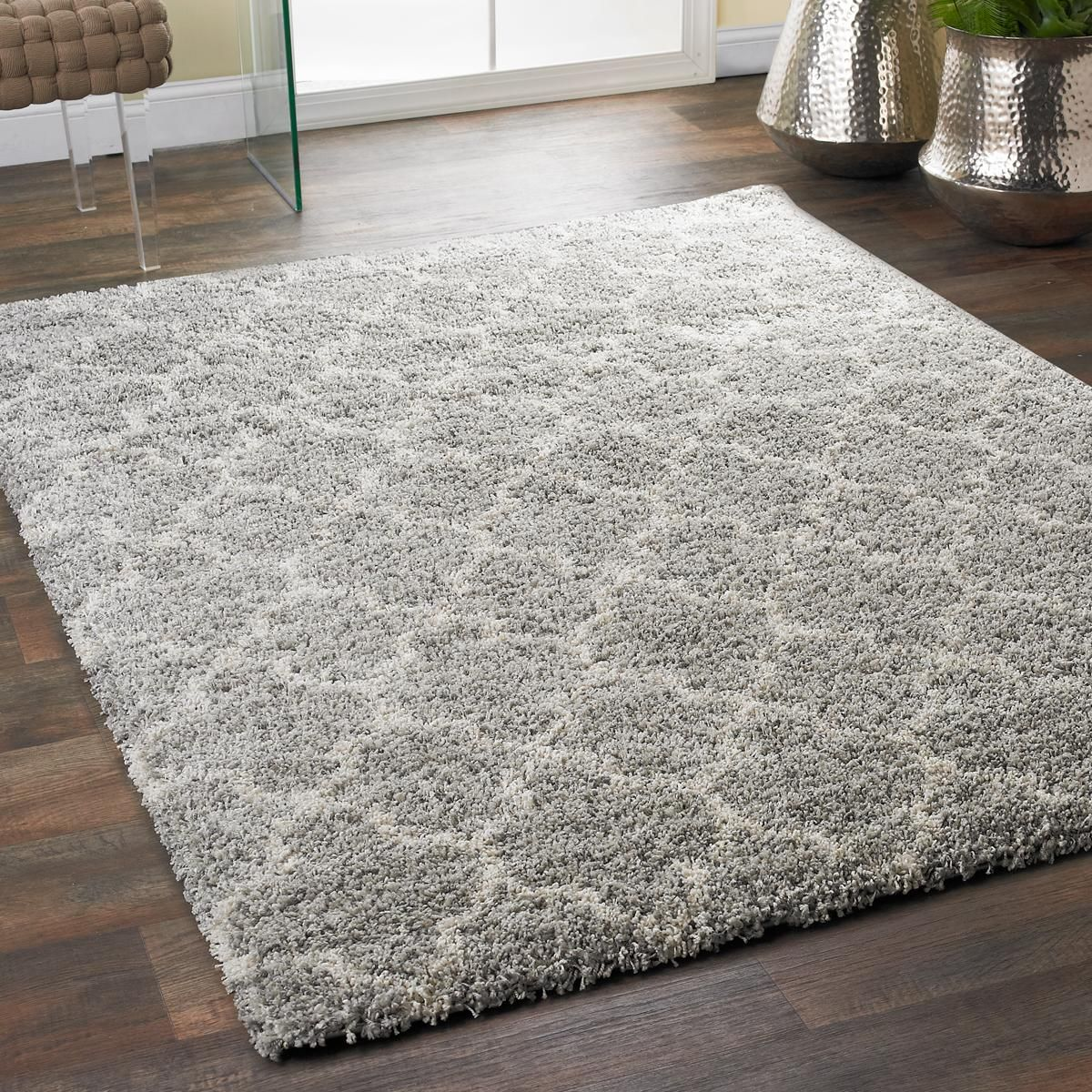 Lofty Trellis Plush Area Rug Lofty Trellis
