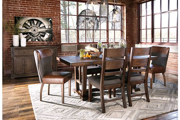 Two Tone Brown Zenfield Dining Room Chair View 3