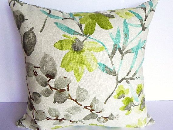 Floral braemore decorative pillow cover 20x20 home decor - Fabric for throw pillows ...