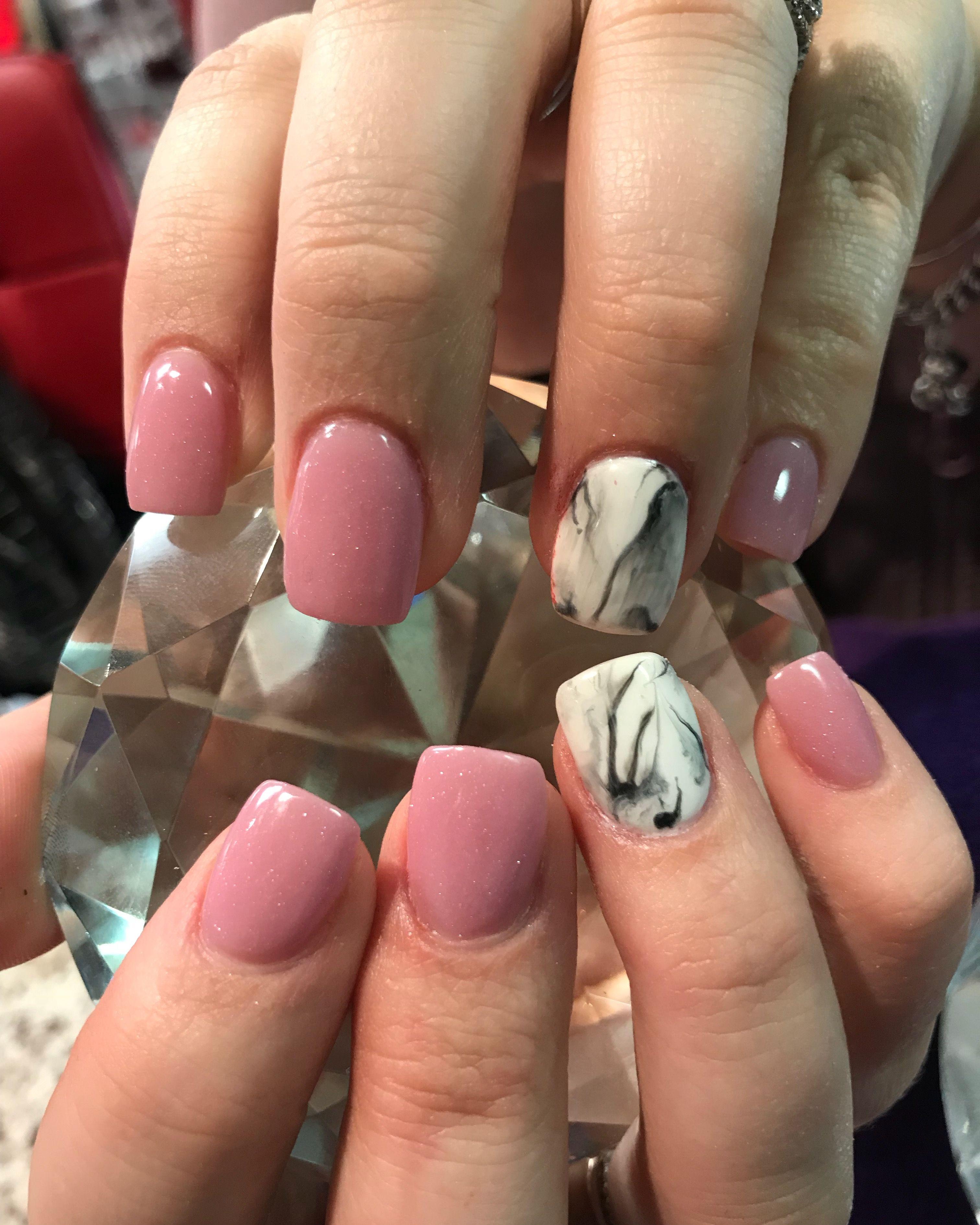 Marbling With Dipping Powder Dipped Nails Powder Nails Nails