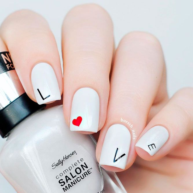 27 Ideas to Do Love Nails for Your Special Day | Pinterest | Wedding ...