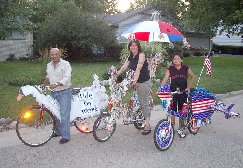 Good Bike Decorating Ideas Bike Parade Fourth Of July