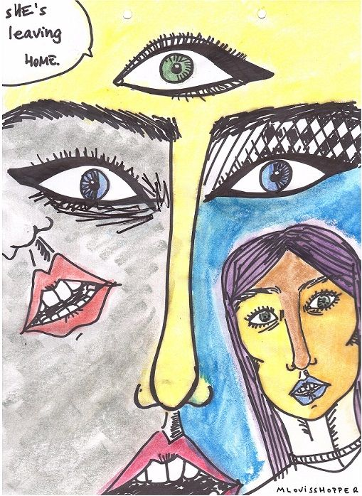#illustration #draw #drawing #marker #girl #eyes #indie