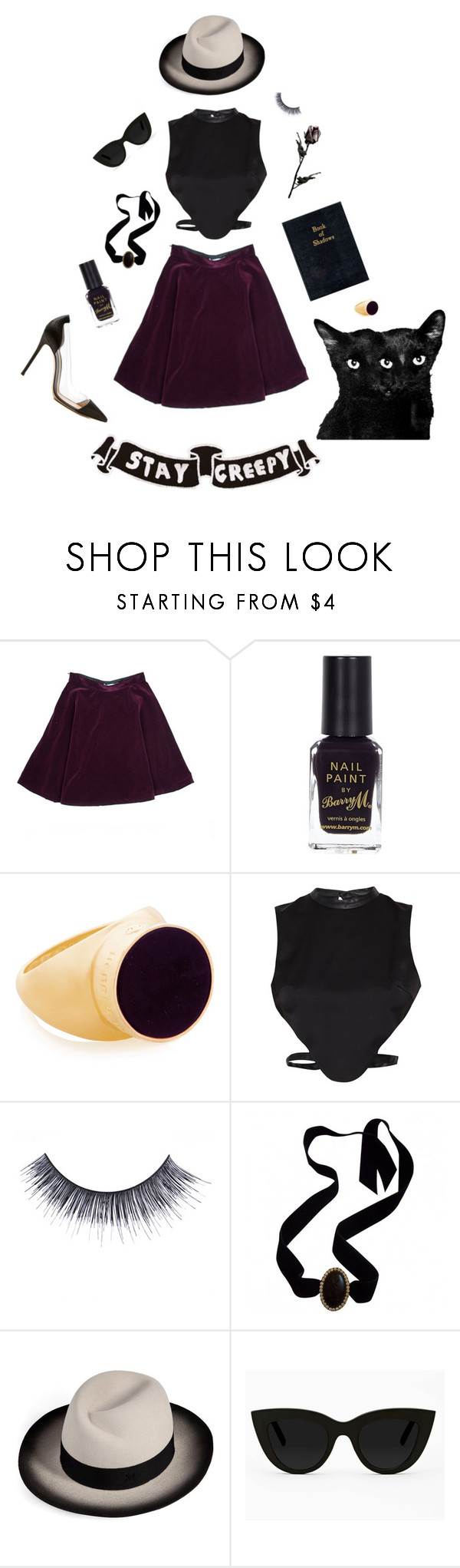 """""""October"""" by kueak ❤ liked on Polyvore featuring River Island, Henri Bendel, Morgan, MAKE UP FOR EVER, Yves Saint Laurent, Maison Michel, Quay and Gianvito Rossi"""
