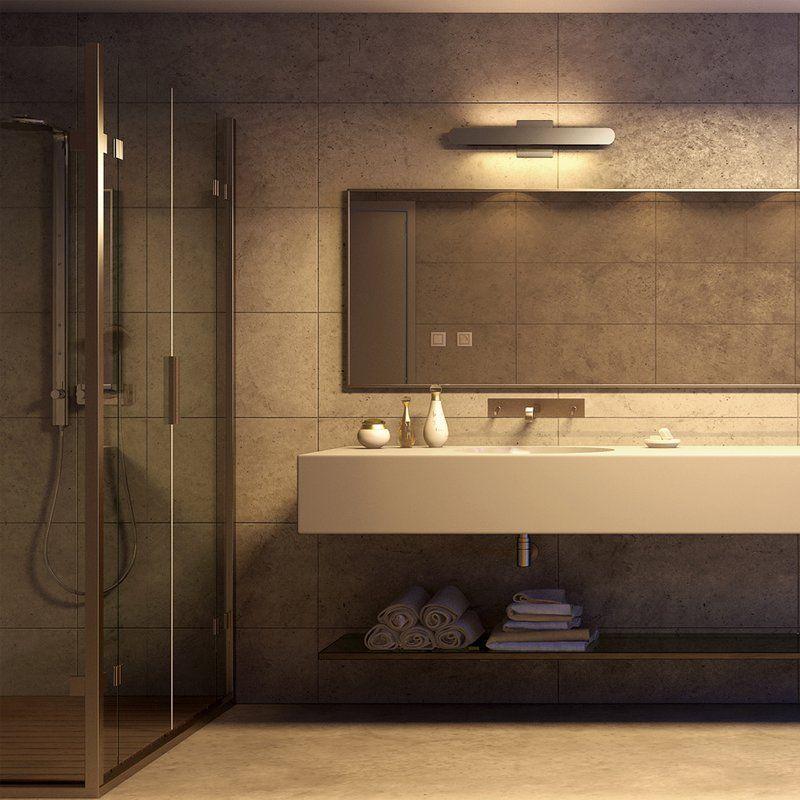 Aspasius 1 Light Dimmable Led Silver Bath Bar Bathroom Light Fixtures Bathroom Lighting Bath Bar