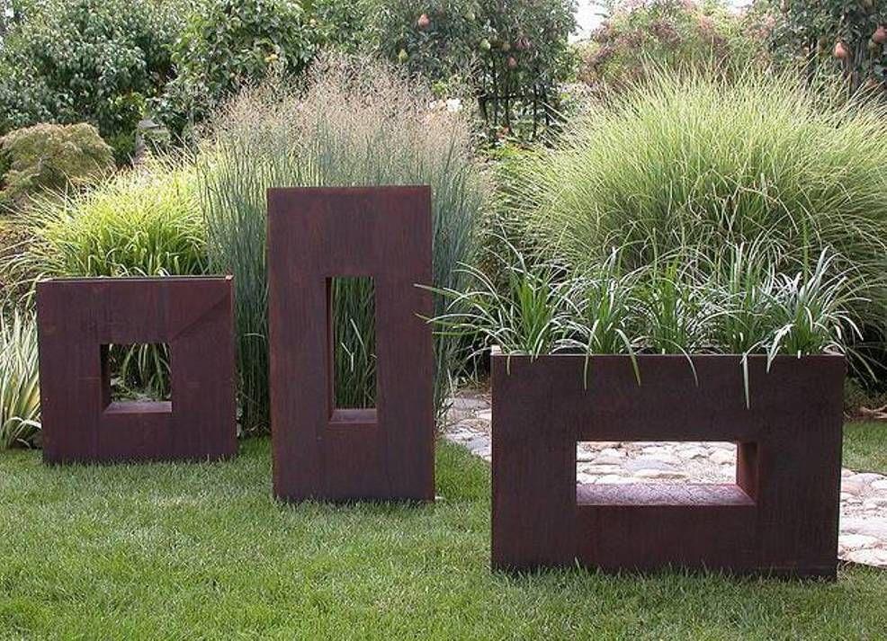garden and lawn outdoor garden modern planters bronze unique rh pinterest com  unique outdoor planter ideas