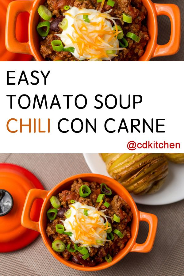 Tomato Soup Has A Richer Flavor Than Regular Tomato Sauce So You Don T Need To Add A Lot Of Extras Tomato Soup Easy Tomato Soup Recipes Campbells Soup Recipes