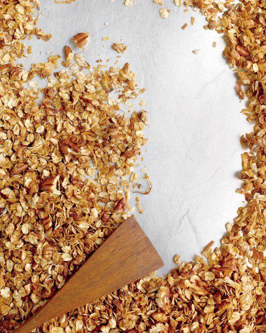 Pecan-Molasses Granola - Oats good for lactation, manganese, molasses has iron