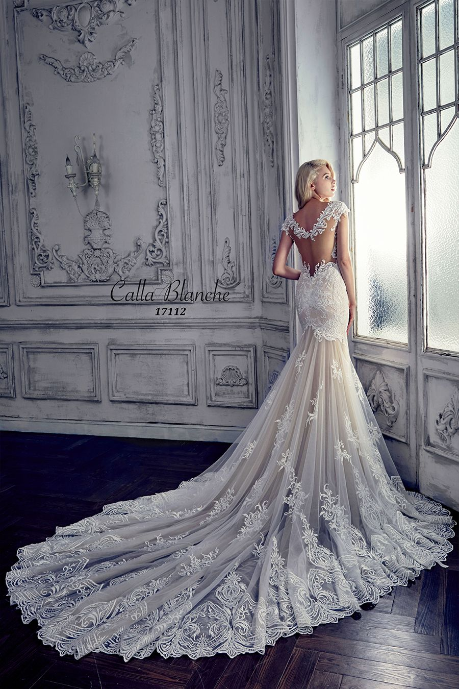 The gorgeous Leia Calla Blanche gown…..Call us at 941-925-5888 to schedule your appointment to find your PERFECT wedding dress