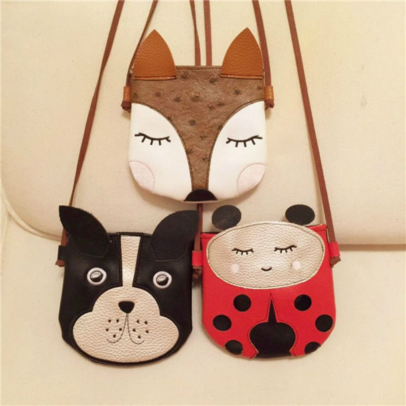 7ca701aec17f Cartoon Cute Fox Puppy Baby Small Bag Children Messenger Bag Fashion ...