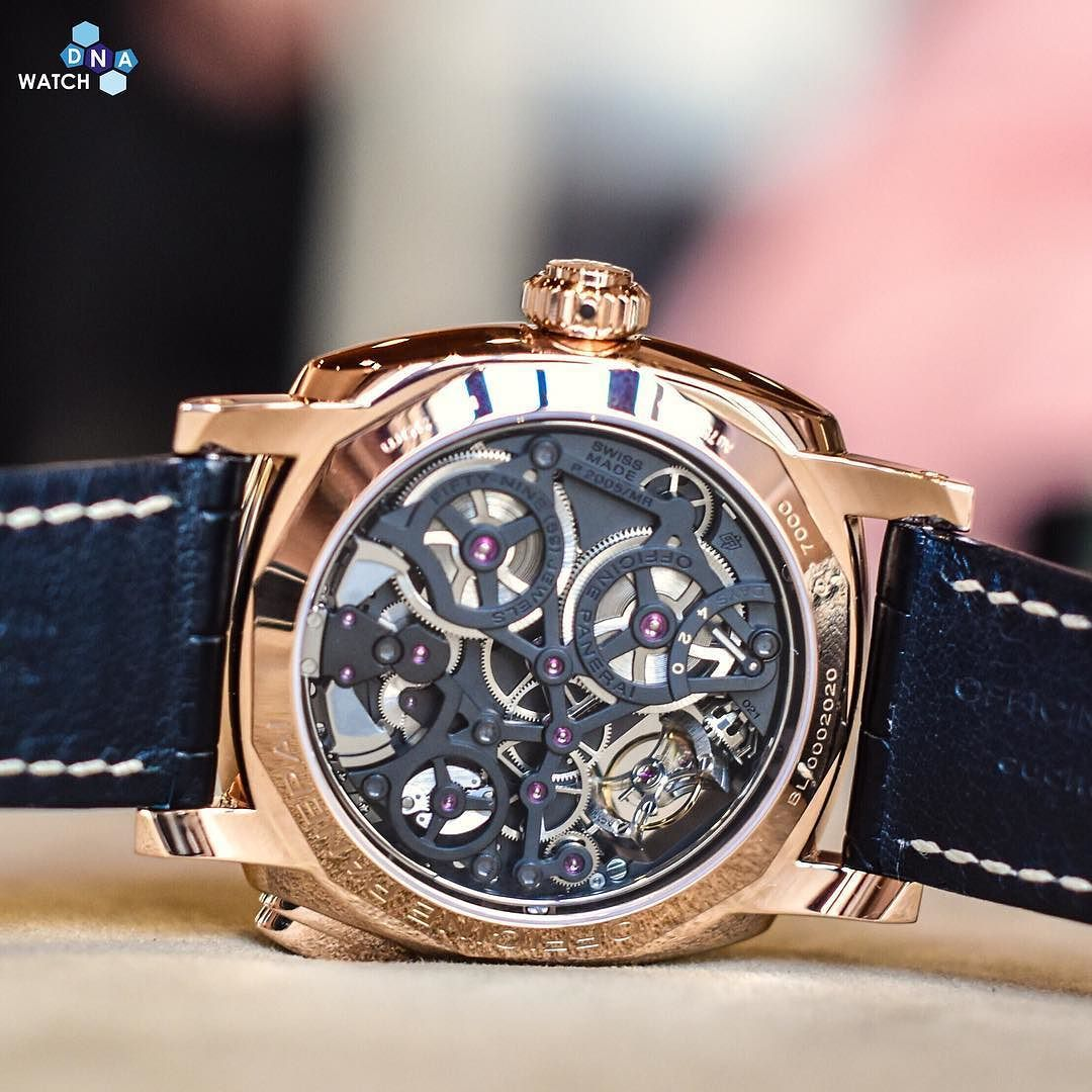Everybody loved the new #Panerai GMT Tourbillon Minute Repeater and the back is even more impressive #wdnapanerai by watchdna