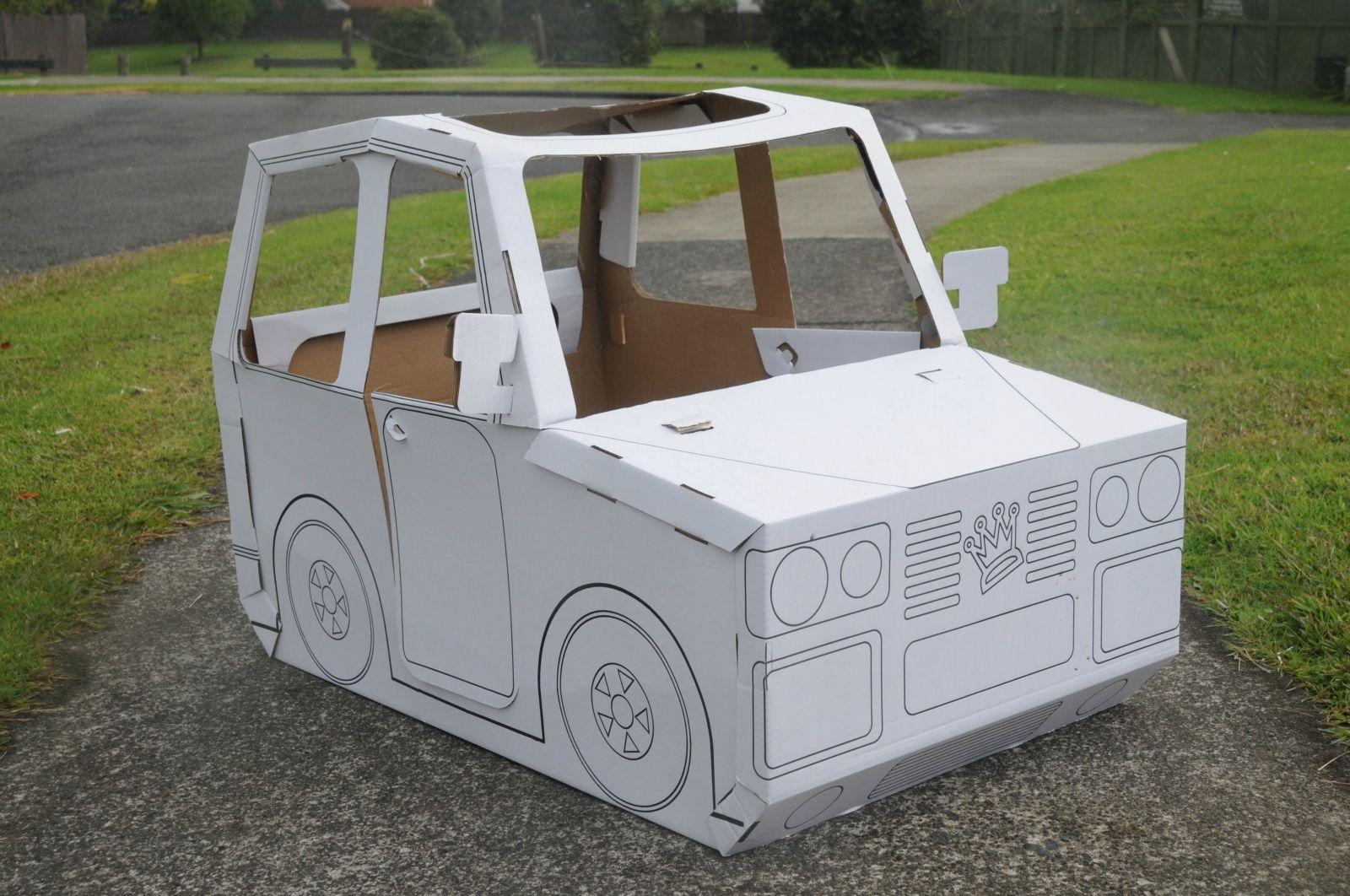 a cardboard car the kids love crafthubs