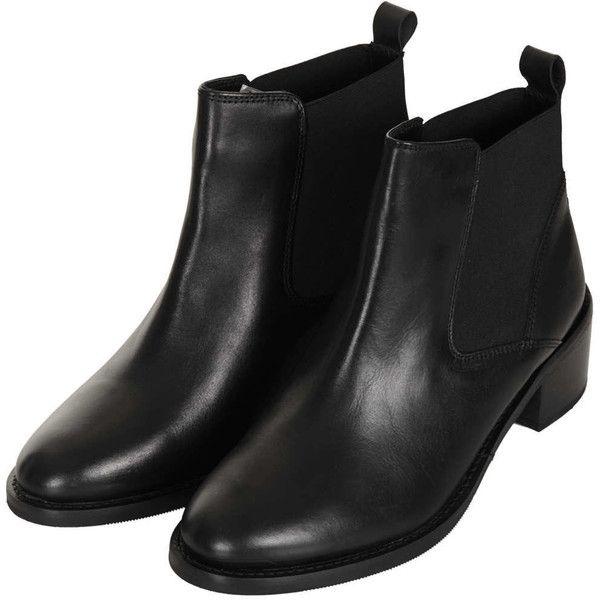 Topshop Affanita Mid Heel Chelsea Boots Leather Chelsea Boots Short Leather Boots Boots