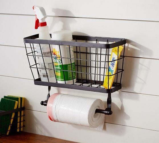 Kellan Garbage Bag Roll Holder | Pottery Barn - Add paper towel ...