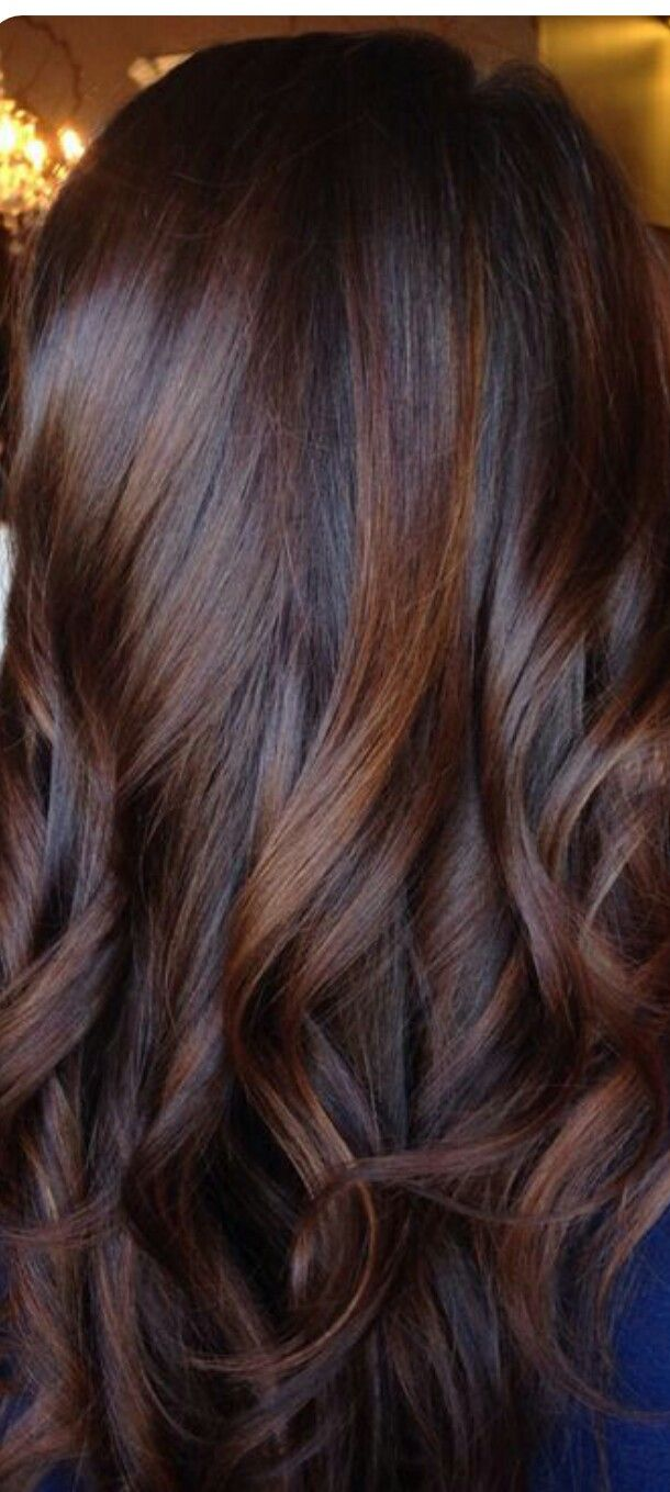 Rich Dark Brown With Red Tones Balayage Hair Colour Pinterest