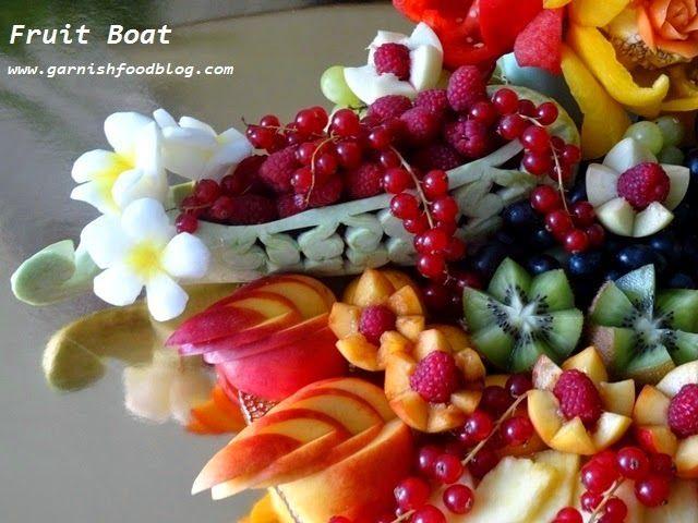 Fruit carving arrangements and food garnishes wedding