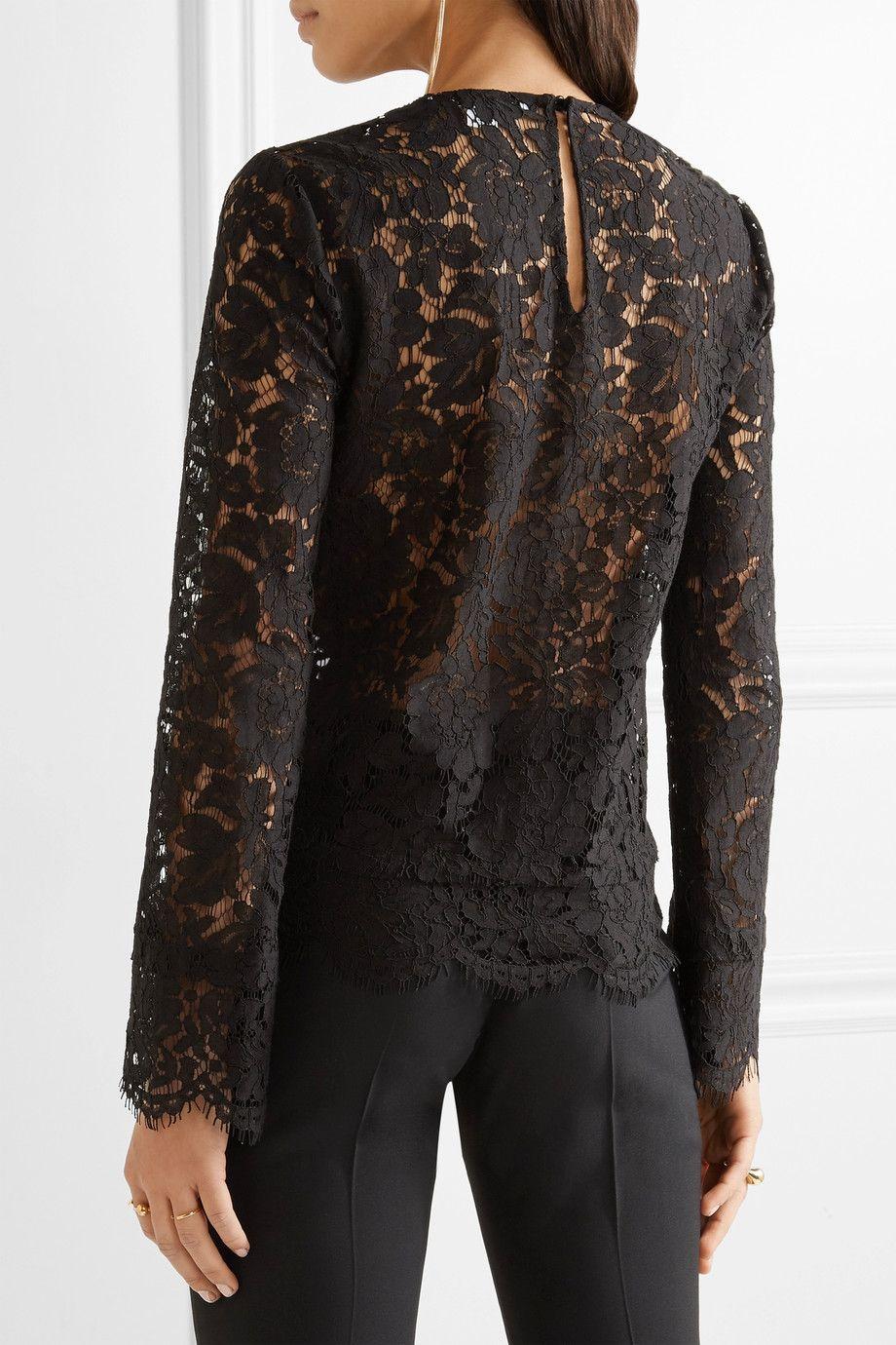 Diane von Furstenberg  Yeva corded lace top  NETAPORTERCOM