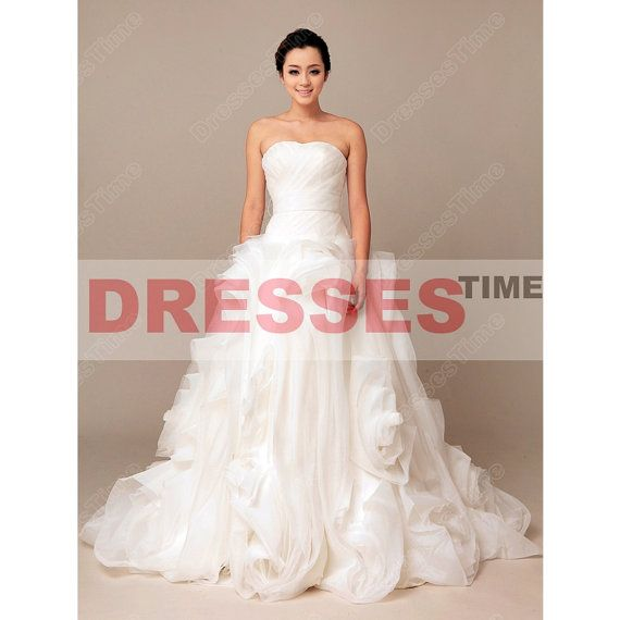 Plus size bridal gowns  Strapless elegant ball by dressestime, $299.99