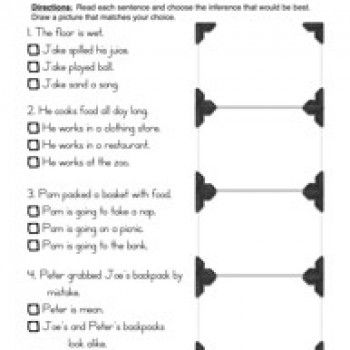 Inferences Worksheet 1 Comprehension Pinterest Worksheets