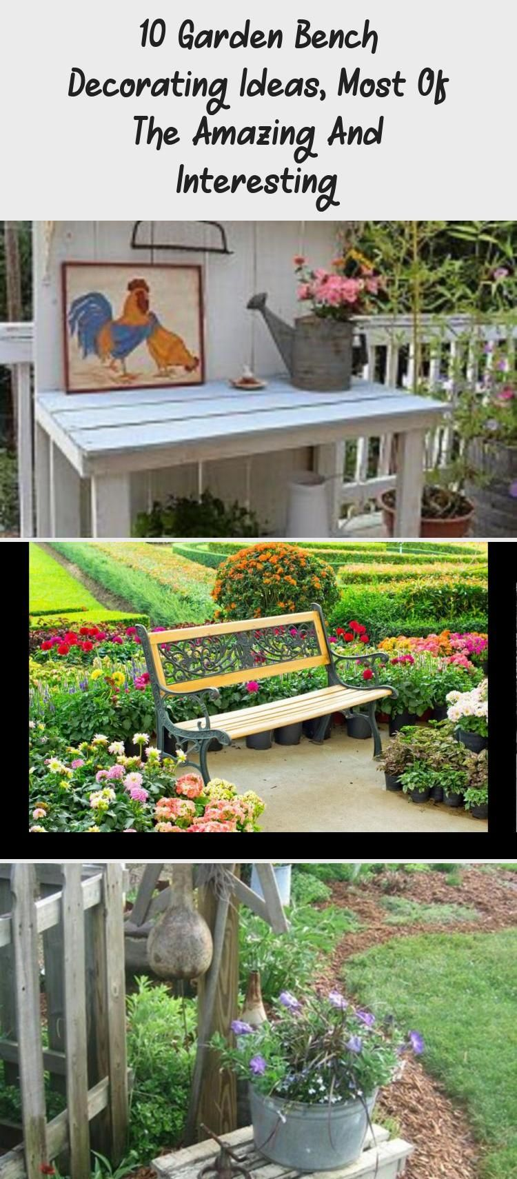 10 Garden Bench Decorating Ideas Most Of The Amazing And