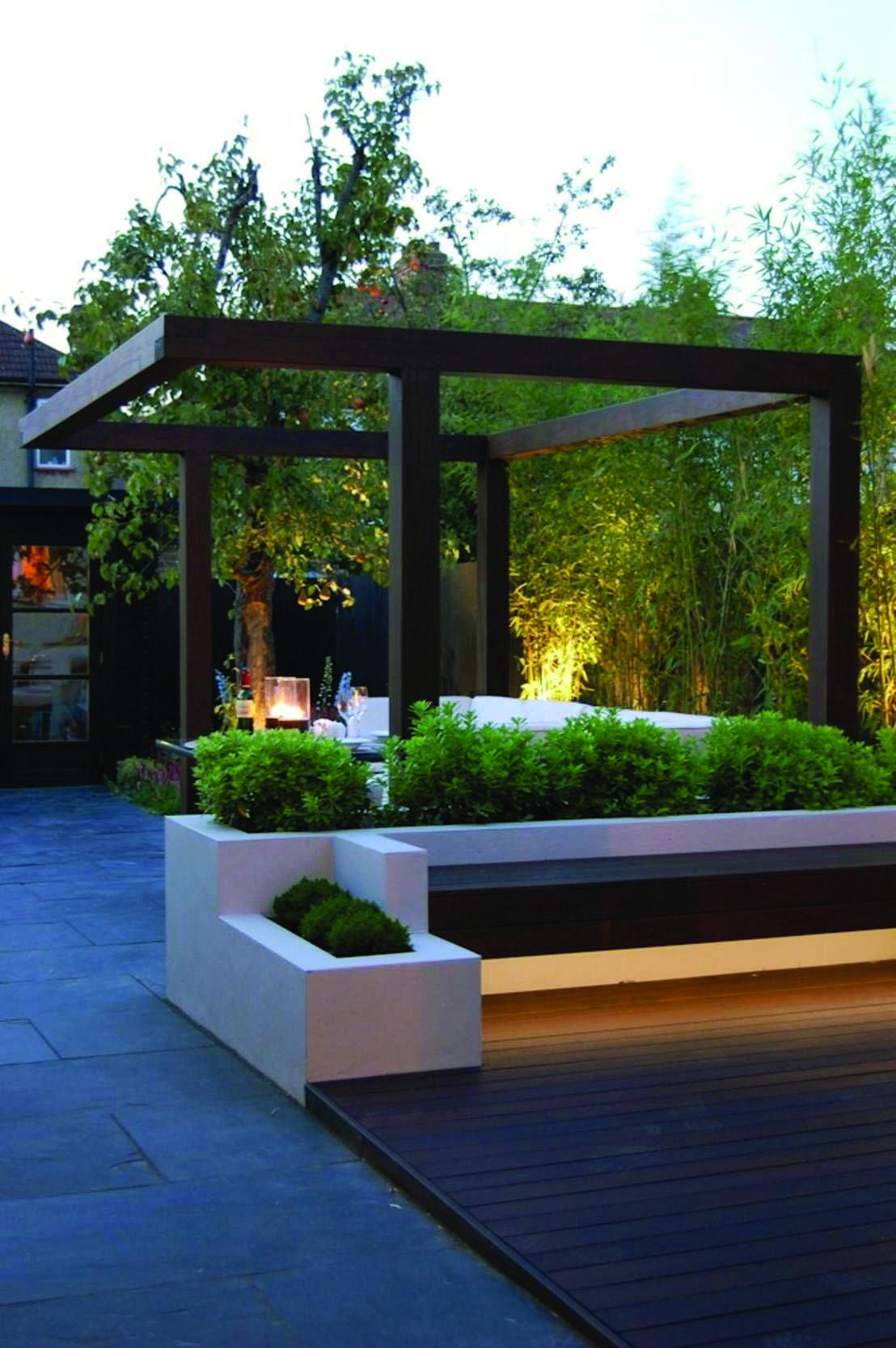 Artistic Tips For Your Pergola Homes Tre Modern Garden Design Backyard Landscaping Modern Garden Modern garden gazebo designs