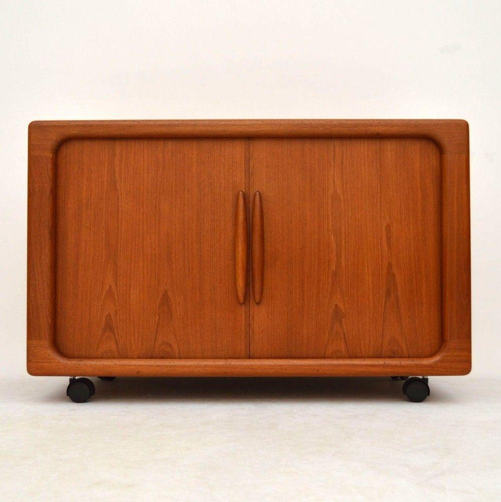 Danish Teak Cabinet Tambour Dyrlund For Sale London Retrospectiveinteriors Com Teak Cabinet Sideboard Cabinet