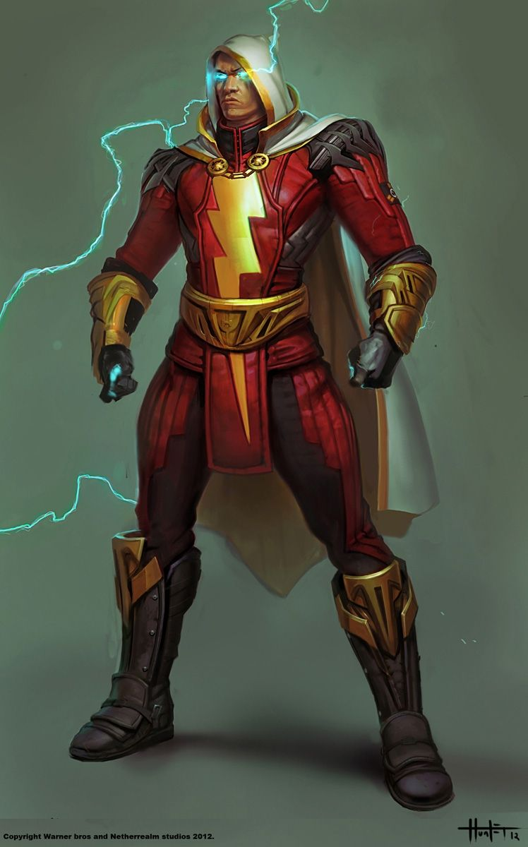 Concept Art Of Shazam From Injustice Gods Among Us By Hunter Schulz