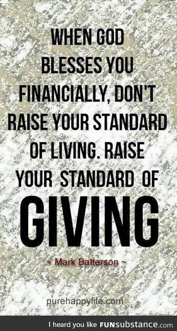 RAISE YOUR STANDARD OF GIVING!!!!! - FunSubstance