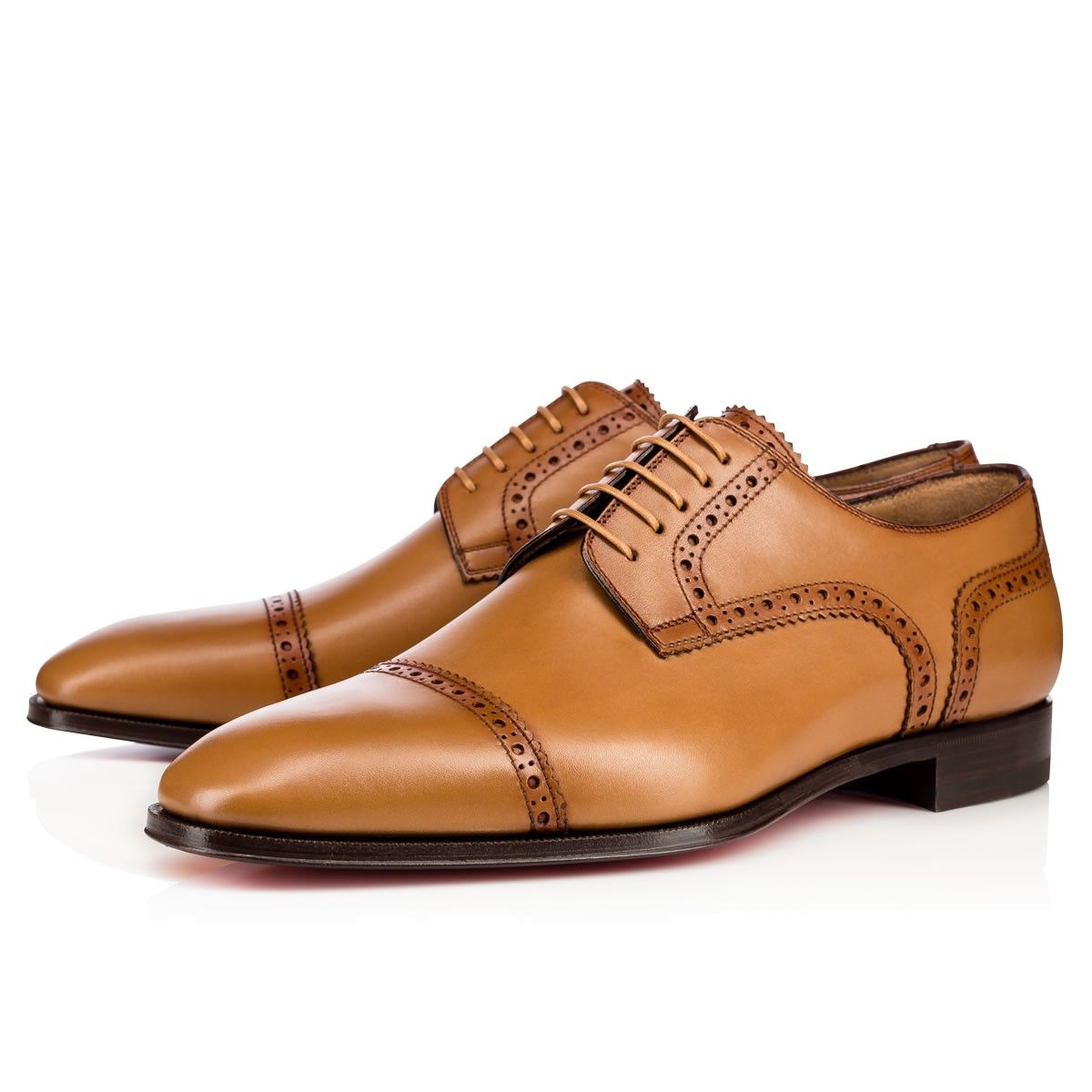 Cousin Charles Flat Laiton Leather - Men Shoes - Christian Louboutin