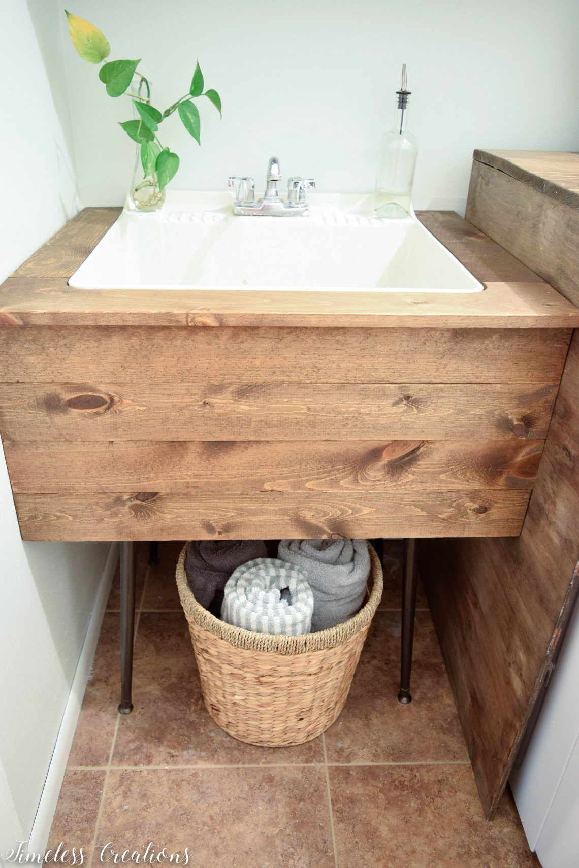 Diy Utility Sink Makeover With Images Laundry Room Design