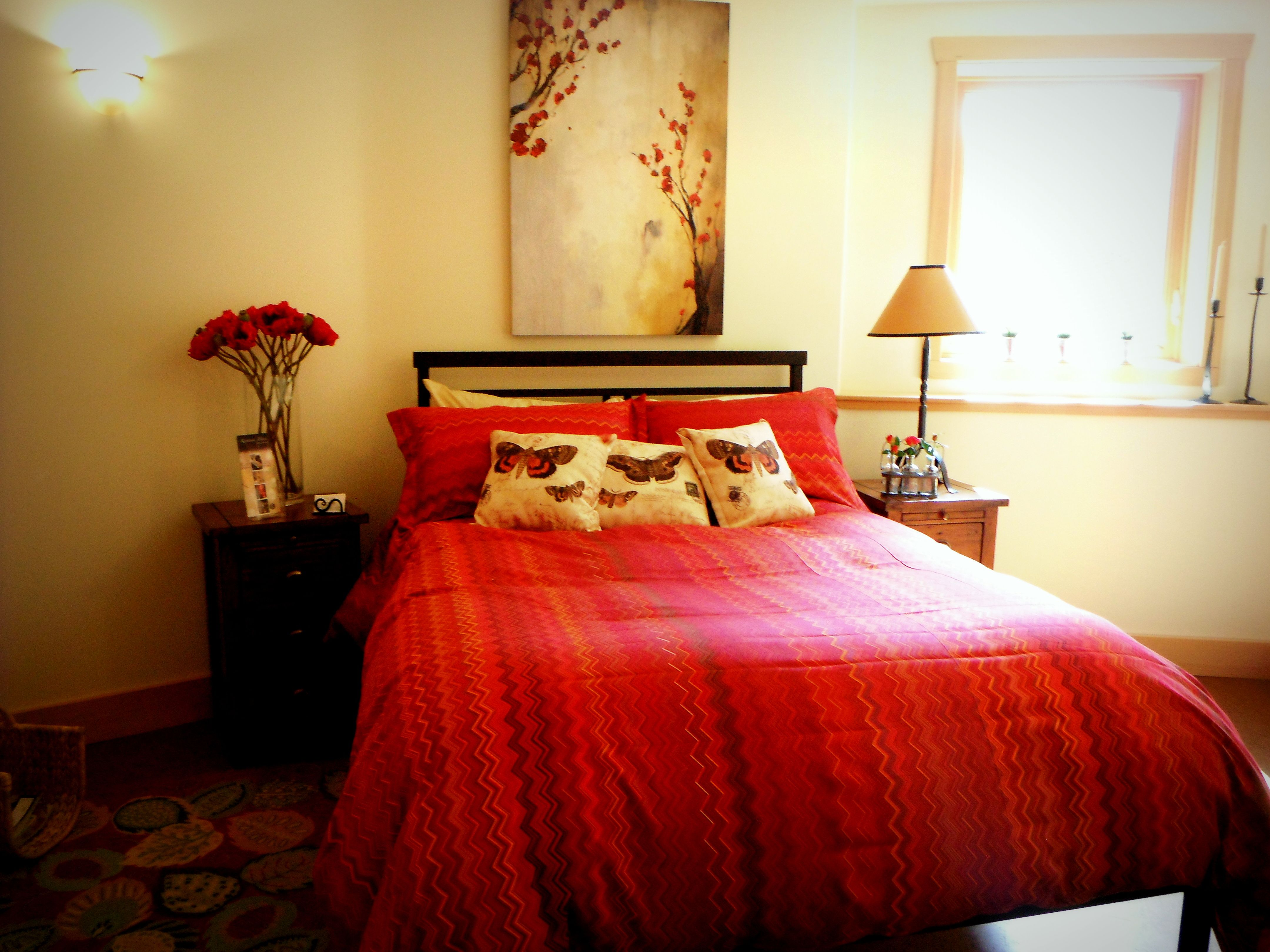 Display bedroom at Mandala Show home in Nelson BC