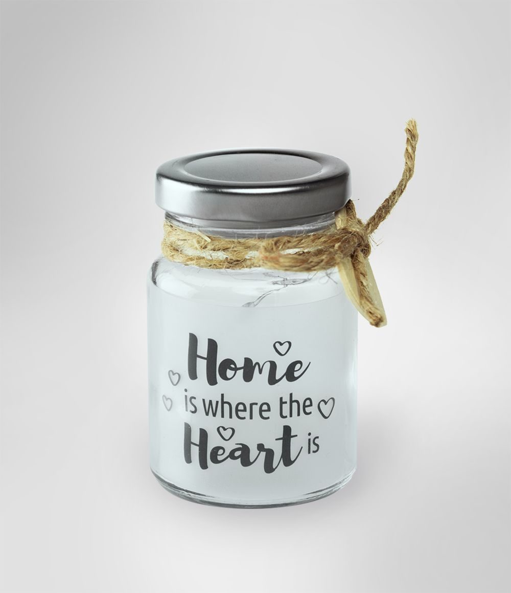 Nice Little Glass Jar With The Text Home Is Where The Heart Is The Jars Are Glass Heart Home Jar Jars Nice Text In 2020 Glass Jars With Lids Glass Jars