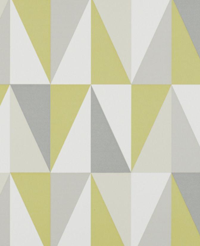 Wallpaper Roll - Modern Zest Yellow Geometric Home Decor Wallpaper ...