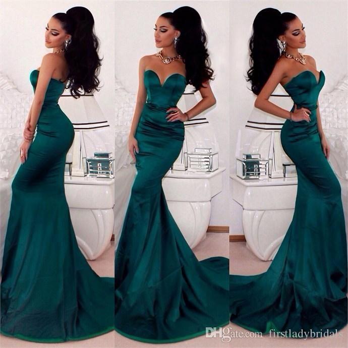Dark Green Prom Dresses Mermaid