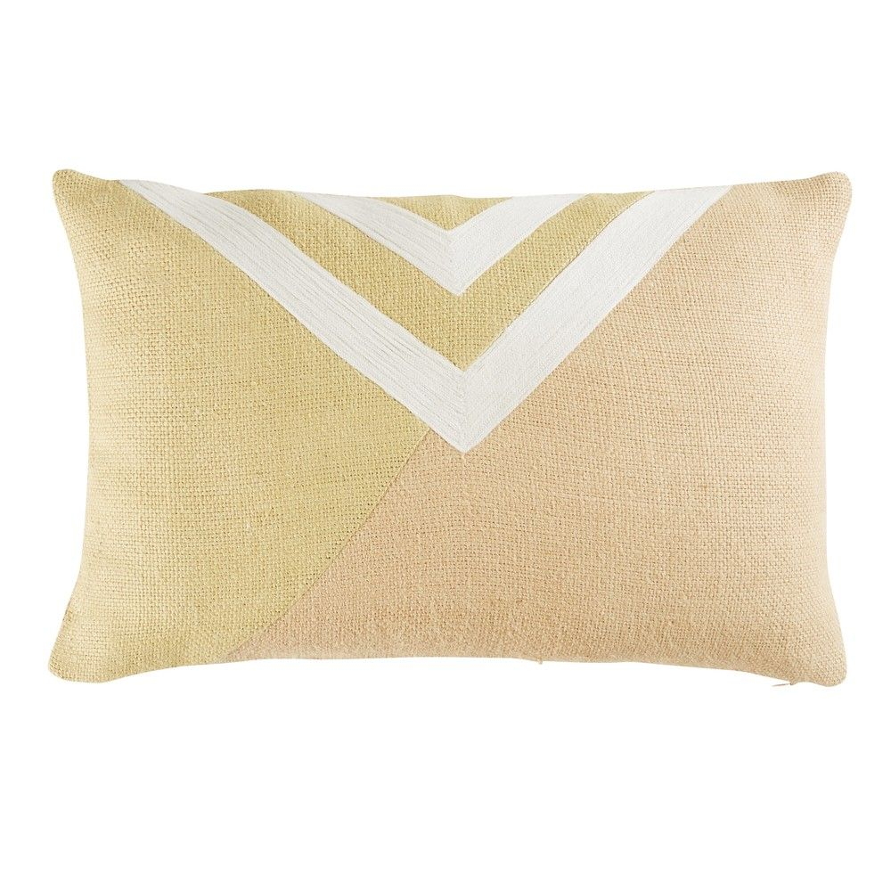Jute Cushion With Graphic Motifs 30x50 Soft Touches In