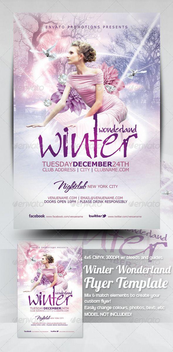 Winter Wonderland Christmas Flyer Template Christmas flyer, Winter
