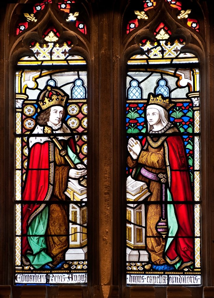 Elizabeth Woodville & Henry IV - Canterbury Glass